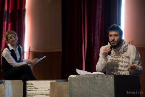 παρουσίαση-συνέντευξη με έναν ήρωα του Σαίξπηρ Big Day