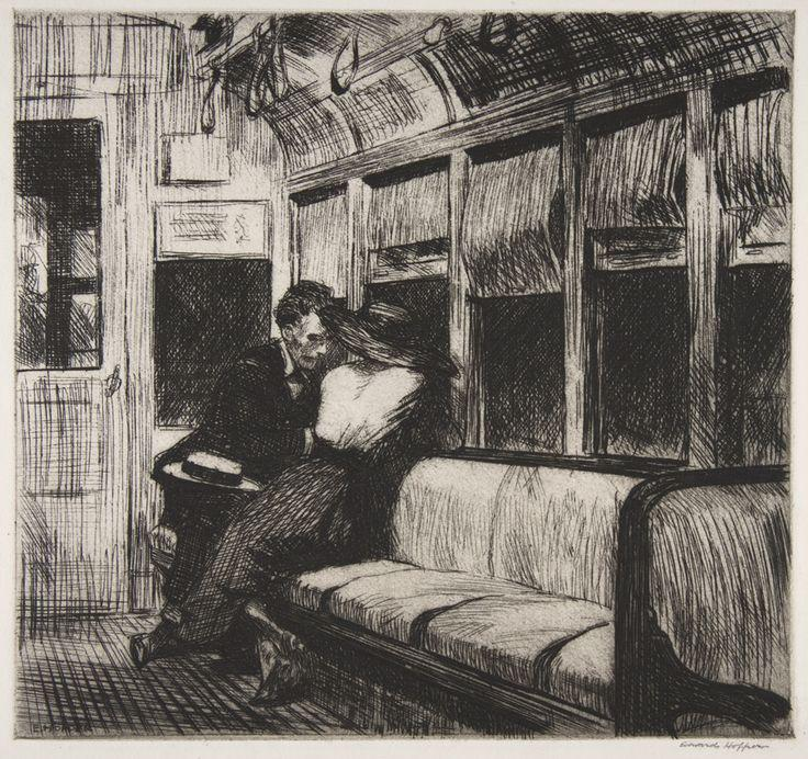 Πίνακας_0_Edward Hopper, Night on the El Train 1918