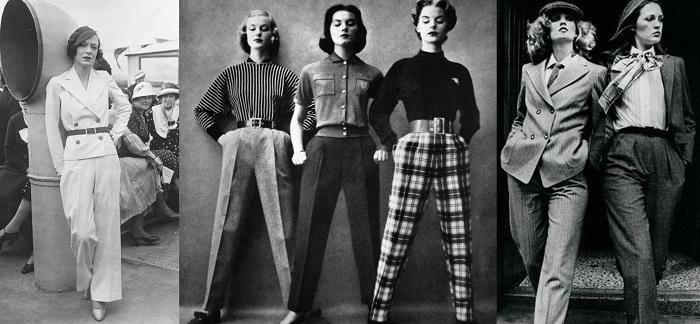 Η τάση αρχίζει να ακολουθείται με ποικίλες εμφανίσεις από απλές γυναίκες, δεκαετία '50.