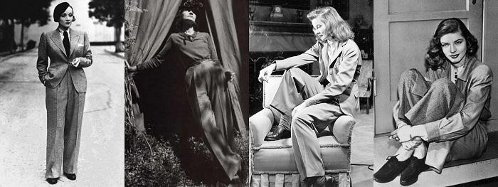 Από αριστερά: Μarlene Dietrich, Coco Chanel, Katharine Hepburn, Lauren Bacall.