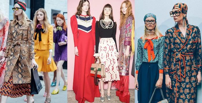 Ο Alessandro Michele ως creative director της Gucci από το 2015, εξύψωσε τη δημοτικότητα του brand δημιουργώντας συλλογές με εμφανείς επιρροές από τις δεκαετίες '60-'70-'80.