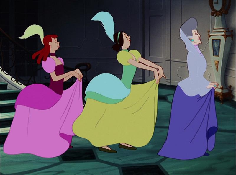Η μητριά και οι αδελφές, Cinderella, 1950