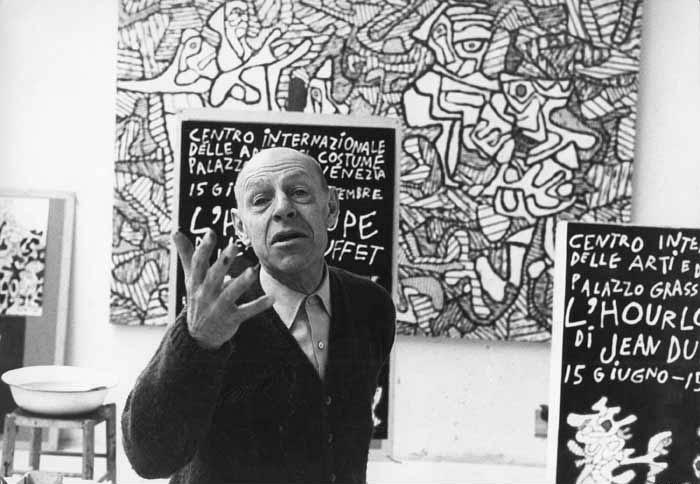 Ο Jean Dubuffet στο χώρο δημιουργίας του