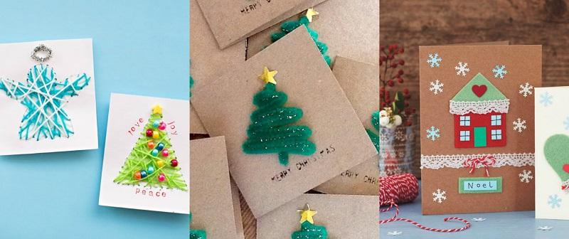 Γράψτε τις ευχές σας σε σκληρά χρωματιστά χαρτόνια και δημιουργήστε τις δικές σας Χριστουγεννιάτικες ιστορίες στο εξώφυλλο του, αφήνοντας ελεύθερη την φαντασία σας.
