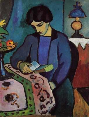 Η σύζυγος του Γερμανού εξπρεσσιονιστή ζωγράφου August Macke, όπως αποδόθηκε από τον ίδιο.