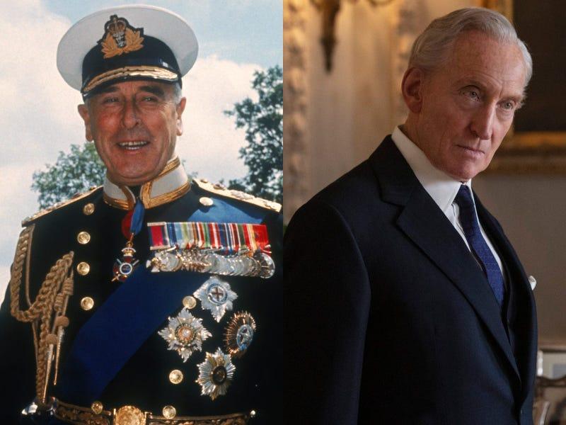 Ο λόρδος Mountbatten και ο ηθοποιός Charles Dance, που υποδύεται το «θείο Dickie» στο «Στέμμα».