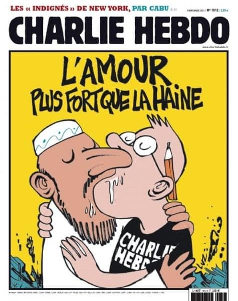 Εξώφυλλο του Charlie Hebdo με τίτλο: ''Η αγάπη είναι πιο δυνατή από το μίσος''