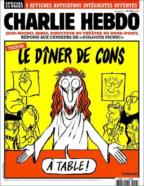 Εξώφυλλο του Charlie Hebdo για την περίπτωση του Golgota Picnic