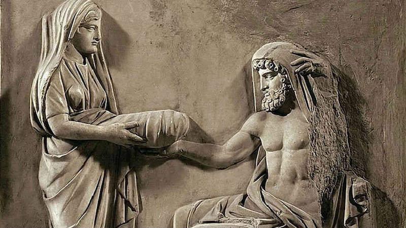 Ανάγλυφο του Κρόνου, της Ρέας και του Δία