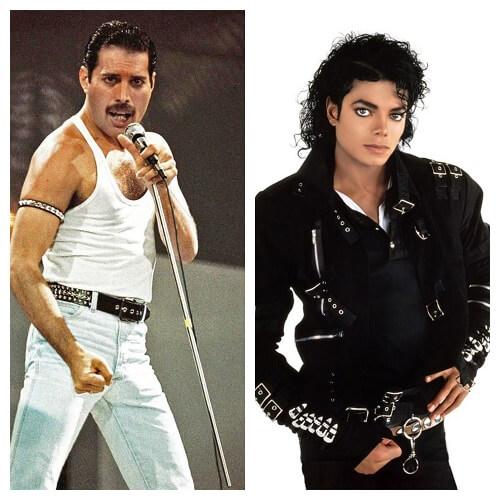 Freddy Mercury και Michael Jackson