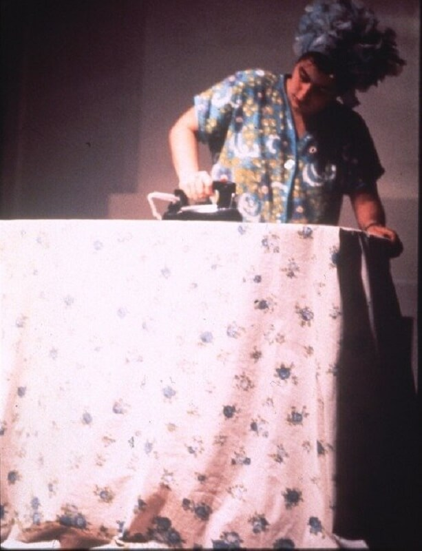 """""""Ironing"""", Sandra Ogel, 1972, Womanhouse"""