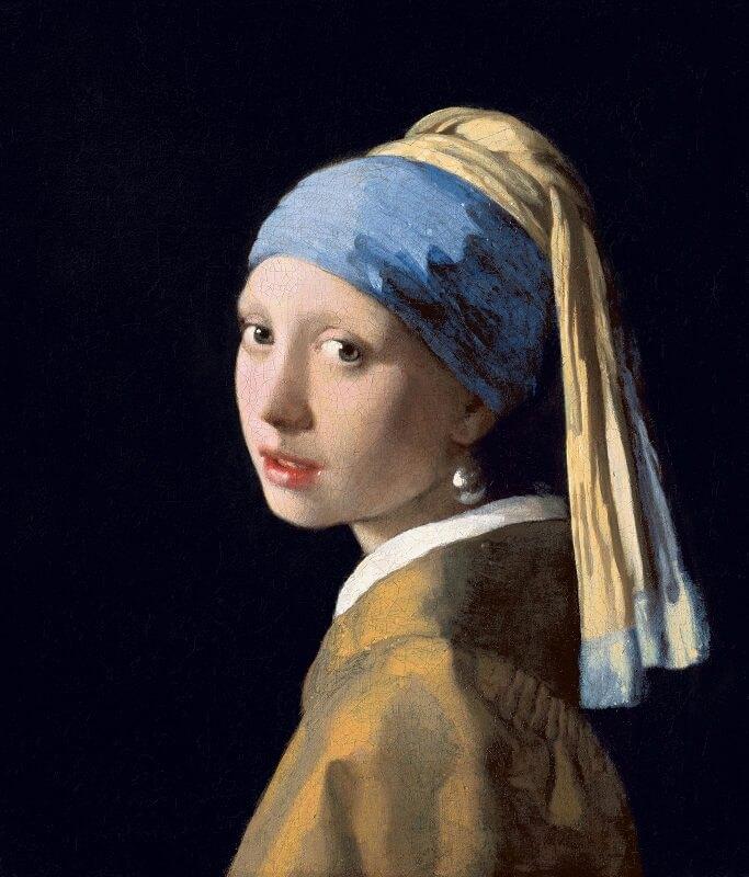 """""""Κορίτσι με μαργαριταρένιο σκουλαρίκι"""" (1665-1666), Johannes Vermeer"""
