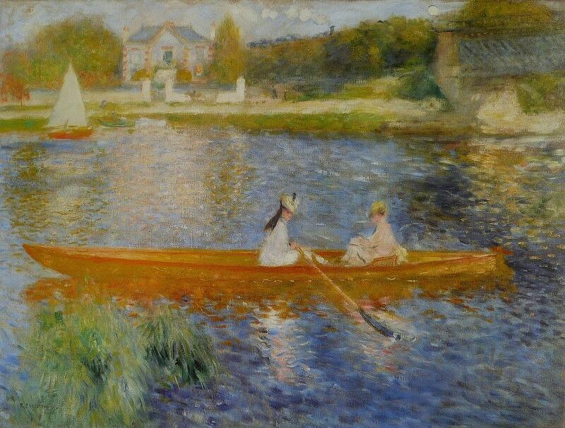 """""""Η βάρκα"""" (1875), Pierre - Auguste Renoir"""