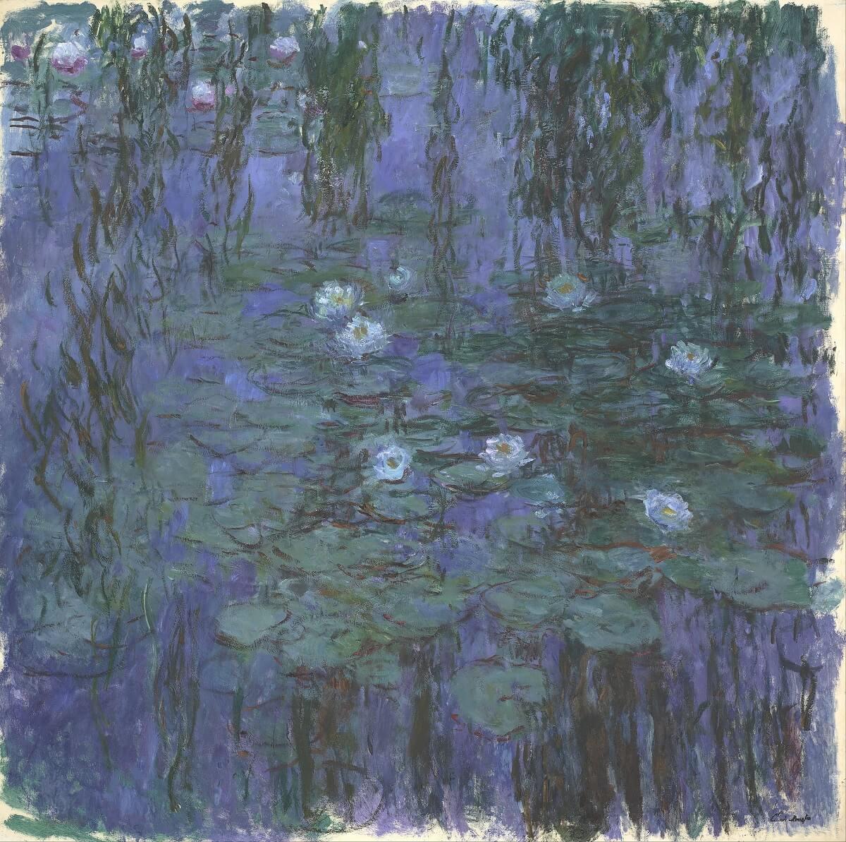 """""""Blue Water-Lilies"""", Claude Monet (1916-19)"""