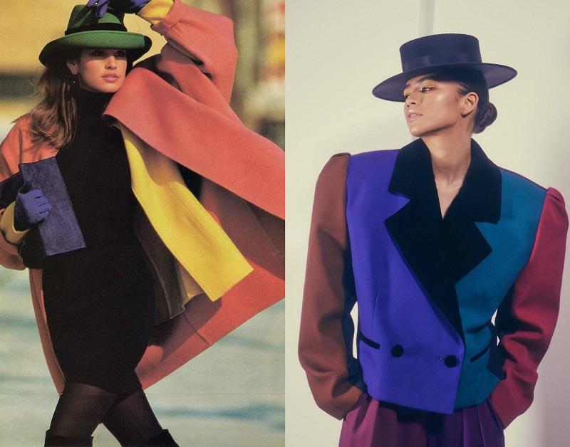Αριστερά, Cindy Crawford, ELLE, 1987 - δεξιά Zendaya, Marc Jacobs, 2018. 80s Μόδα
