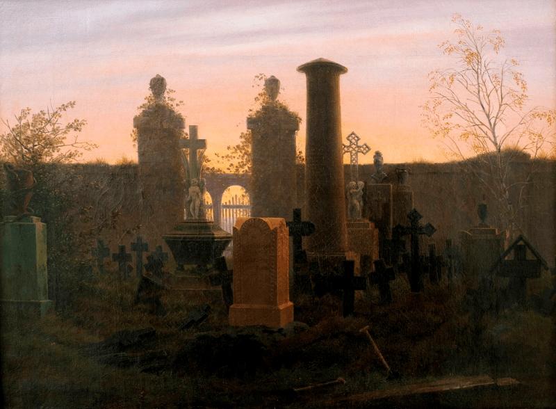 Νεκροταφείο σε ζωγραφιά