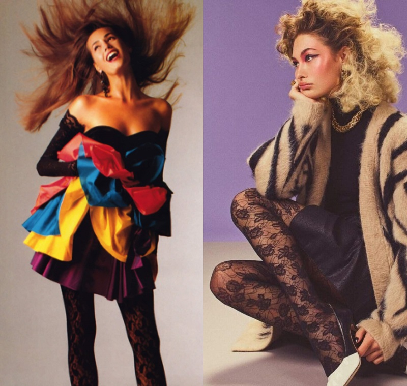 Αριστερά, 80s party dress, Emauel Ungaro - Δεξιά, editorial Vogue 2019. 80s Μόδα