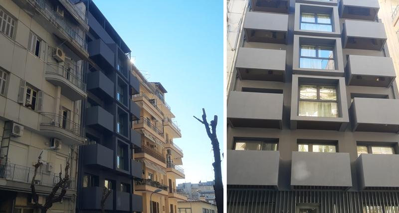 Νεα οικοδομή στη γειτονιά της Αχειροποίητου