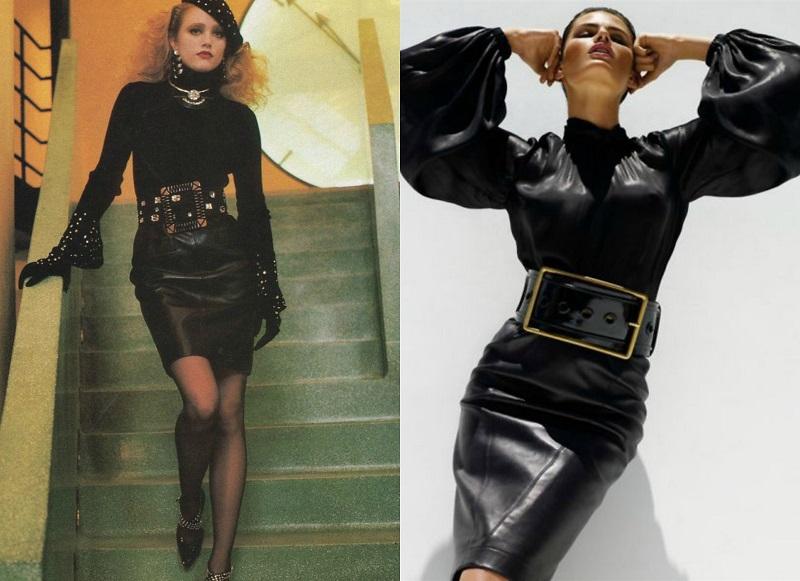 Αριστερά, συλλογή YSL, 1985- Δεξιά, editorial Vogue 2007. 80s Μόδα