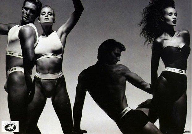 Από τις πρώτες συλλογές bodywear, καμπάνια από τον γνωστό φωτογράφο Victor Skrebneski με πρωταγωνίστρια την Iman, 1987.