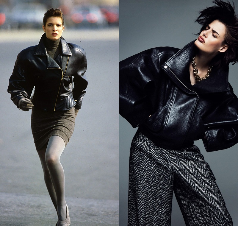 Αριστερά, Azzedine Alaia, Vogue, 1987 - Δεξιά, editorial Myself DE, 2015.