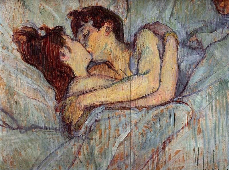 Συναινετικό και υπέροχο φιλί από πίνακα του Ανρί ντε Τουλούζ Λωτρέκ