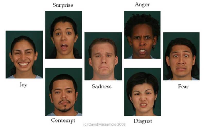 Η αποτύπωση των συναισθημάτων στις εκφράσεις του προσώπου