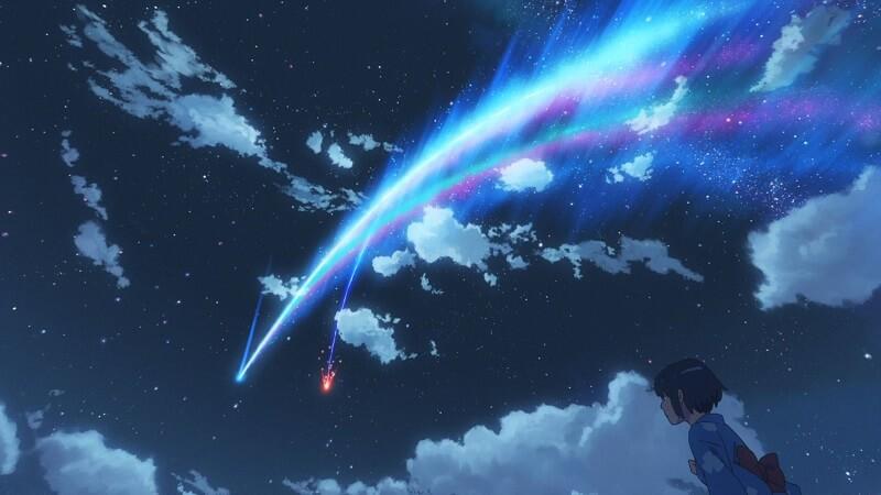 η Mitsuha πριν την πτώση του κομήτη