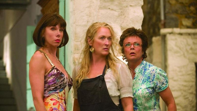 "Christine Baranski, Meryl Streep και Julie Walters στο ""Mamma Mia"""