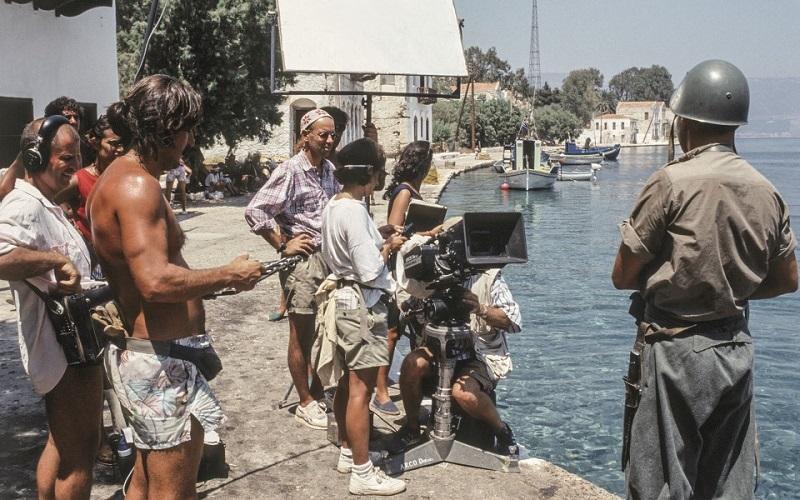 """Κατά την διάρκεια γυρισμάτων της ταινίας """"Mediterraneo"""" στο λιμάνι του Καστελόριζου"""