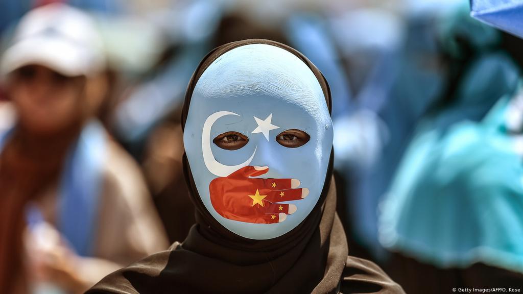 Στιγμιότυπο από διαδήλωση Ουιγούρων γυναικών