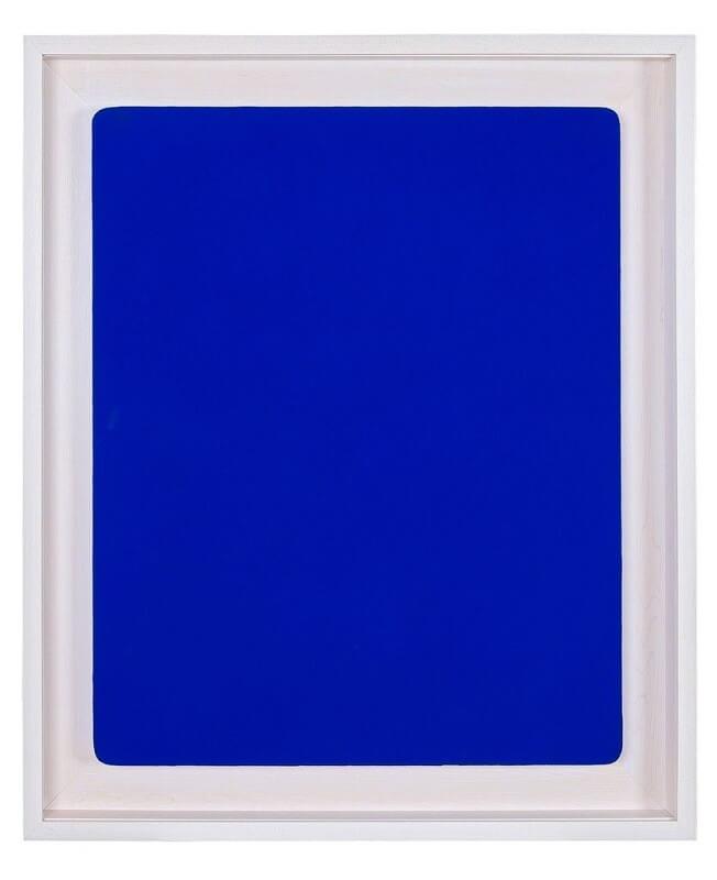 Untitled Blue Monochrome (IKB 241), Yves Klein (1960)