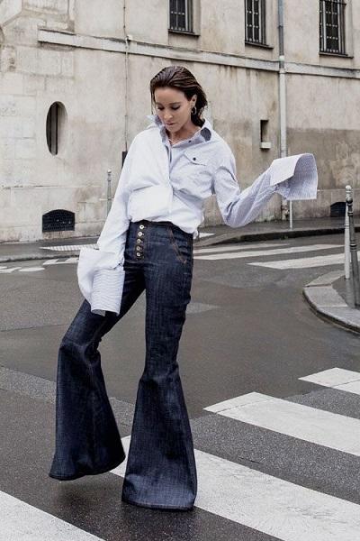 Τζιν παντελόνι καμπάνα (Flare Jeans).