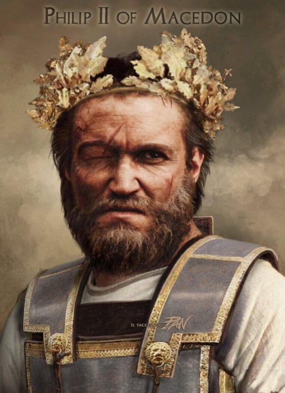 Φανταστική απεικόνιση του Φίλιππου Β΄