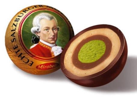 Τα φημισμένα σοκολατάκια Mozart.