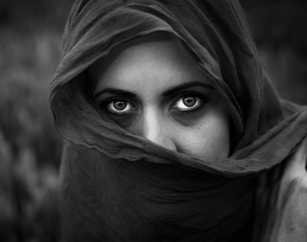 My wife_s black and white portrait - Adrian Minda - Germany