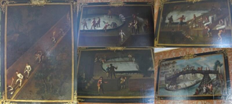 Πίνακες στον τελευταίο όροφο του Μουσείου των Κελτών.
