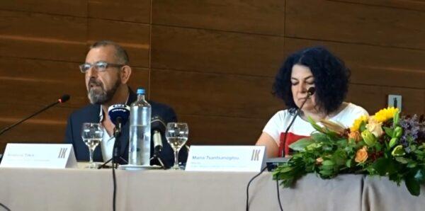 Η ομιλία του Ανδρέα Τάκη, Προέδρου Δ.Σ. του ΜΟΜus στη συνέντευξη Τύπου για την έκθεση του Ιβάν Κλιουν