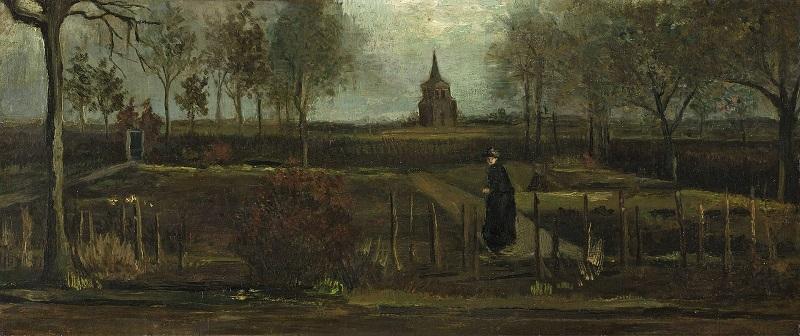 Van Gogh - The Parsonage Garden at Nuenen in Spring (1884)