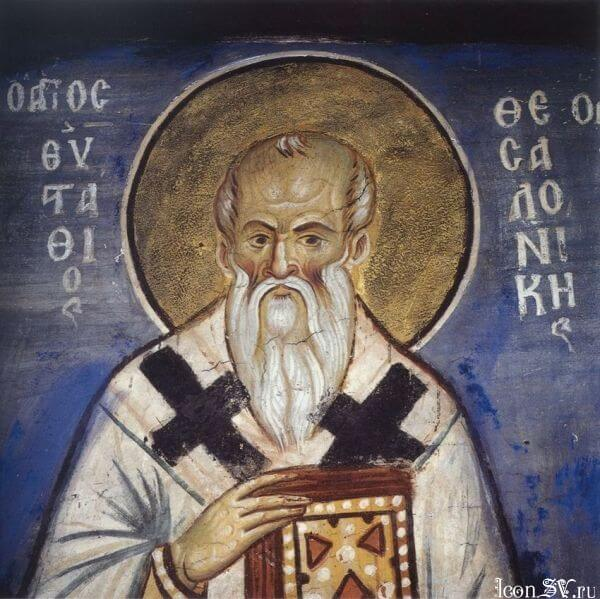 Ο αρχιεπίσκοπος Θεσσαλονίκης Ευστάθιος. Η Ορθόδοξη Εκκλησία τιμά τη μνήμη του στις 20 Σεπτεμβρίου, μαζί με τον γνωστό Άγιο Ευστάθιο (τον Πλακίδα). Ίσως αυτός είναι και ο λόγος που περνά απαρατήρητος. Οι Θεσσαλονικείς, όμως, ας μη λησμονούν και αυτή την προσωπικότητα που έδρασε στην πόλη τους. Στον τομέα της φιλολογίας, τουλάχιστον, χαίρει ιδιαίτερης εκτίμησης.