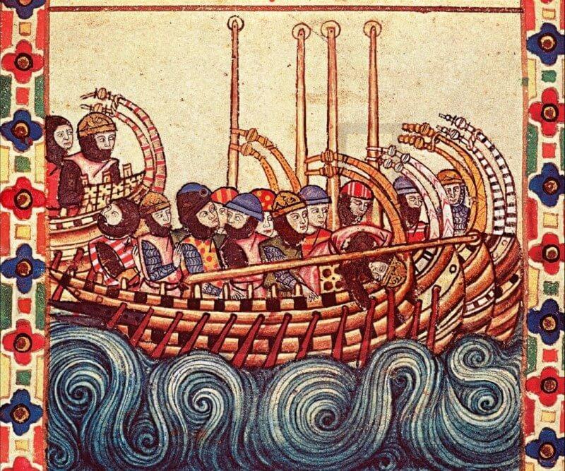Οι Νορμανδοί, απόγονοι των ξακουστών Βίκινγκς, μέσα από μια μακρά και ενδιαφέρουσα αλληλουχία μετατοπίσεων και εισβολών κατόρθωσαν να συγκροτήσουν δικό τους βασίλειο στη Ν. Ιταλία και Σικελία. Ήταν δε ιδιαίτερα επιθετικοί και δραστήριοι στο Ιόνιο και την Αδριατική, μια διαρκής απειλή για το Βυζάντιο.
