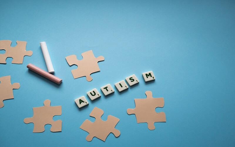 Autism puzzle and scrabble